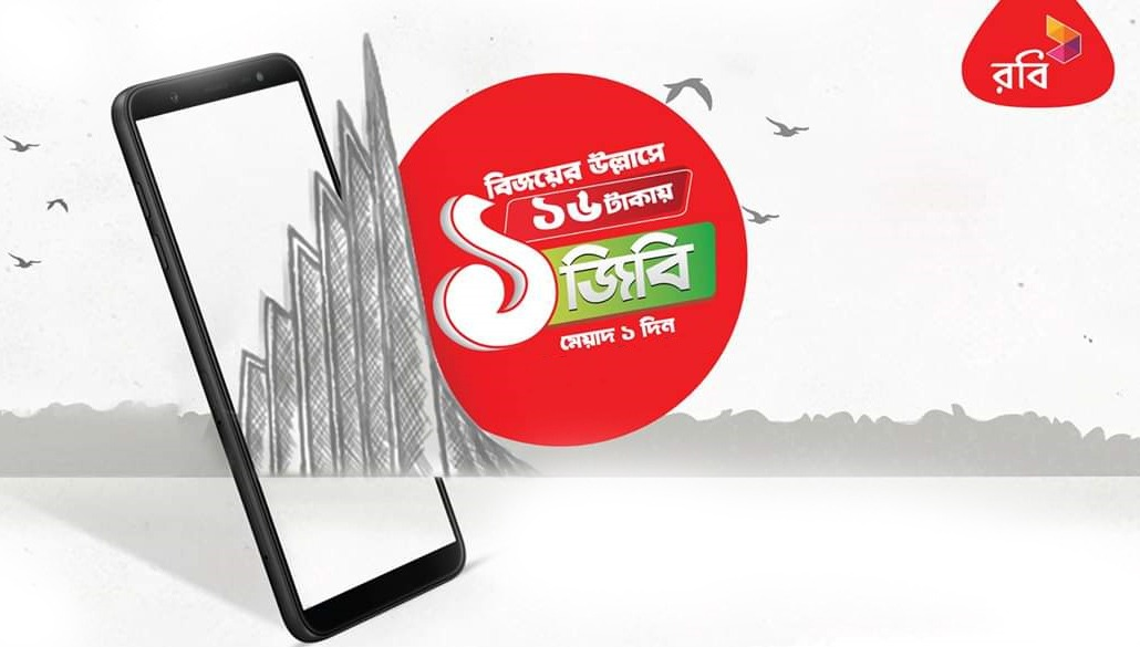 robi 1gb 16tk offer